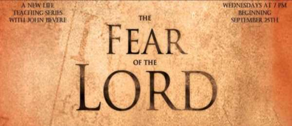 Fear of the Lord, a Wed teaching series